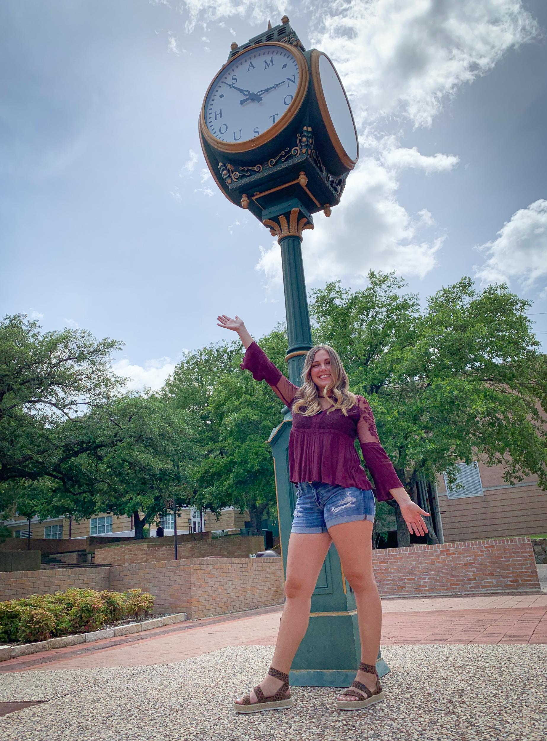 Whitney at Sam Houston State University