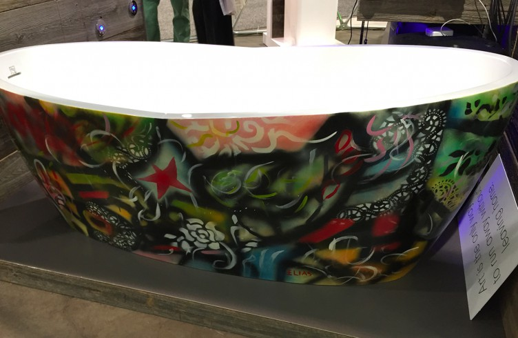 Graffiti tub