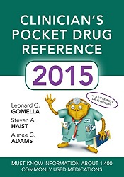 RM301.12 Clinician's Pocket Drug Reference 2015