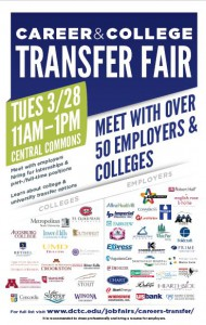 DCTC Career and College Transfer Fair 3-28, 11a.m. to 1 p.m.