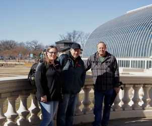 Christine, Craig, and Darrell at the Conservatory