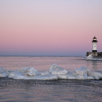 Duluth Lighthouse Sunset