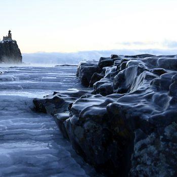 Split Rock Ice at Sunrise