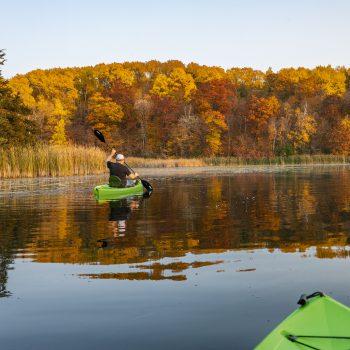 Fall kayaking on Moose Lake