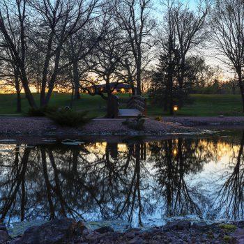 Sunset on Campus Pond