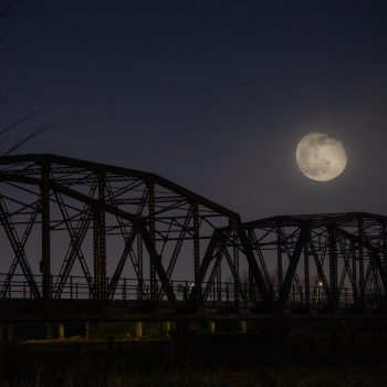 Moonrise at the Old Cedar Bridge